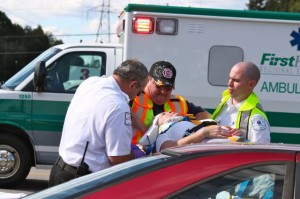 Kevin Spradlin | PeeDeePost.com The driver of a Ford Thunderbird was taken by FirstHealth EMS to a nearby hospital for additional evaluation and treatment. His condition was unknown as of 8 p.m. Wednesday.
