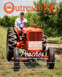 Danny Bynum's Allis-Chalmers tractor made the cover of OutreachNC magazine in its July edition.