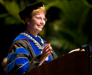 Linda P. Brady, chancellor of The University of North Carolina at Greensboro, today announced her plans to retire July 31, 2015, after seven years of service. She became the university's tenth chancellor in August 2008.