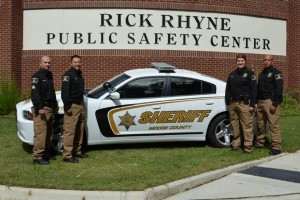 Submitted photo The Moore County sheriff's deputies, from left to right, are Sgt. Jesse Robbins, Deputy Alex Rubio, Deputy Megan Prieto and Deputy Rashad Gatling.