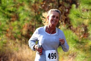 Kevin Spradlin | PeeDeePost.com Ellerbe resident Sherri Caulder perserved and made it through to the finish line of her first ultra marathon attempt.