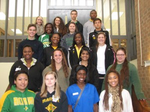 Submitted photo Twelfth grade Distinguished List: 1st Row:  Viridiana Aguirre, Molly Russell, Gabrielle Quick, Ahyana Cox 2nd Row:  Monika Gibson, Haleigh Denham, Khushbu Patel, Danielle White 3rd Row:  Jarod Ricks, Heaven Smith, Nile Fisher, Katie Satterfield 4th Row:  Breanna McKinnon, Meredith McLean, John Pittman 5th Row:  Katie McIntyre, Alexis Grant, David Steffen, Deonte Brown