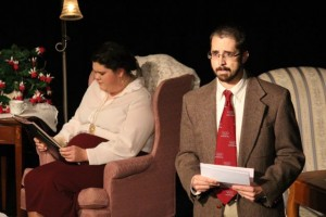 "Kevin Spradlin | PeeDeePost.com Anyone who watched one of the seven performances of ""Love Letters,"" co-starring Emily Braddock and Jason Buckner, knows what this scene is."