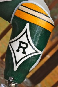 Kevin Spradlin | PeeDeePost.com Bobby Stewart has used his prosthetic as another way to root for the Richmond Raiders.