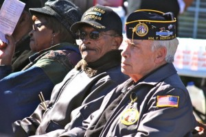 Kevin Spradlin   PeeDeePost.com Hamlet resident Jimmy Brigman, right, is a retired Army master sergeant still active with the Disabled Veterans of America Chapter 59.