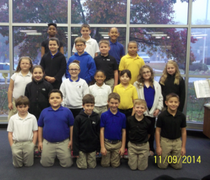Submitted photo Washington Street School A Honor Roll Students for the first nine weeks include from the front left; Nathaniel Wright, Riley Hart, Cameron Hinson, Hunter Wood, Davis Faw, and Naaman Perakis.  Second row from left; Karlee Butler, Savannah Shepard, Eisley Wheeler, Jencyis Warren, Ashley Canas, Grace Street, Abigail Williams.  Third Row from left, Angelina Hammonds, Wil Mabe, Rad Kennedy, and Kyla Sampson.  Back row from left includes, Sanajia Tillman, Jude Howard, and Tanaji Saunders.  Not pictured but also receiving all A's is fifth grader, Josie Anderson.