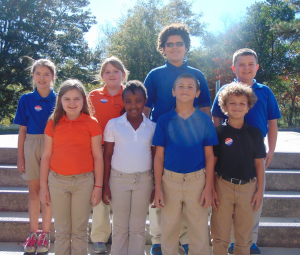 Submitted photo Students achieving Distinguished List for the first nine-week academic period at Monroe Avenue Elementary School include:  Front Row: Chloe Foster, Jada Howell, Dakota Chavis and Ronald Bright.  Back Row:  Piper Hopkins, Rayne Pitchford, Jaiden Baldwin and Joshua Foster.