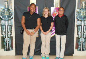 Submitted photo From left to right: Edriana Davis, Camryn Hines and Kayleigh Leviner.