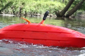Kevin Spradlin | PeeDeePost.com Yes, that's the foot of former Rockingham Principal Julian Carter capsizing in Hitchcock Creek in April.