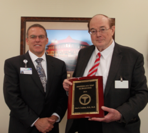 Submitted photo David Clay, CEO of Sandhills Regional Medical Center along with Dr. Alan Coulson.