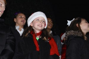 Kevin Spradlin | PeeDeePost.com The L.J. Bell Elementary School Choir performed several Christmas carols before and after the tree lighting.