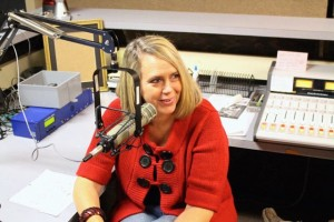 "Caleb Neeley | WRSH 91.1 FM Theressa Smith speaks on the upcoming play ""Always a Bridesmaid"" Friday inside the WRSH 91.1 FM studio at Richmond Senior High School. The play opens Jan. 22 at Richmond Community Theatre in downtown Rockingham."