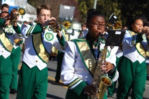 Kevin Spradlin | PeeDeePost.com The Raider Marching Band participates in the Famers Day Parade in Ellerbe each year.