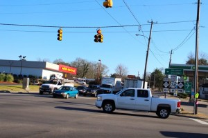 Kevin Spradlin | PeeDeePost.com Motorists traveling west from Hamlet wanting to turn left, or south, onto Highway 177 will soon have their path made easier with the installation of a long-awaited left-turn signal.