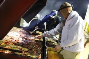 Kevin Spradlin | PeeDeePost.com Steak and chicken were prepared on the grill outside Station 2 on Scott McDonald Road.