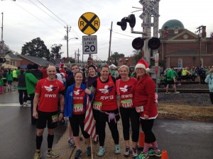 Submitted photo A group of Team RWB Sandhills members participate in the Reindeer Fun Run earlier this month in Aberdeen.