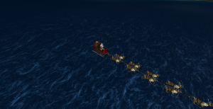 At 7:30 p.m. Wednesday, Santa Claus was well into his 24 hours of Christmas, having completed gift delivery in Russia and headed towards a chain of islands in the Atlantic Ocean.