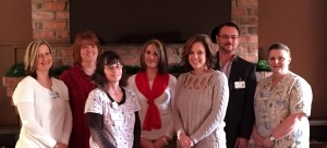 Heather Monroe, Julie Woody, Teresa Balzer, Hollie Smith, Jenny Mabe, Chris Thornton and Tammy Bull.