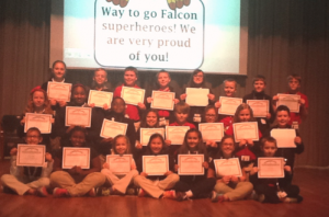 Submitted photo Pictured are most of the A Honor Roll students at Fairview Heights Elementary School who earned A Honor Roll status for the second nine-week academic period.