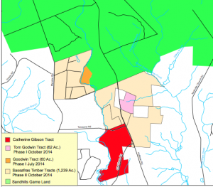 This WRC image shows the Catherine Gibson Tract in Scotland County.