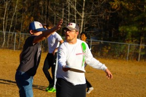 Kevin Spradlin | PeeDeePost.com' C.J. Smith, youth pastor at Mount Olive Baptist Church, is using Ultimate frisbee to reach out to youth.