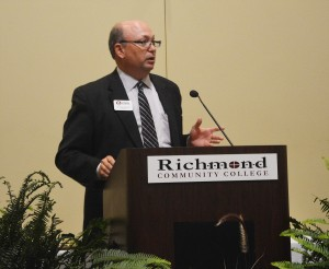 "Submitted photo Dr. Dale McInnis, president of Richmond Community College, said any program that increases the awareness and recognizes the worth of a community college education ""is a good thing."""