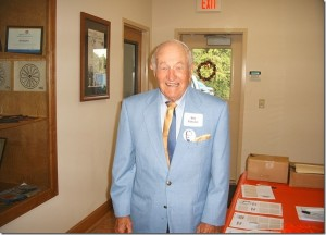 "Photo by Harry West ""Coach"" arriving at the RHS Class of 1957's 50th Reunion at the Hinson Lake Rotary Lodge on Oct. 6, 2007."
