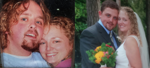 Submitted photo Allison McCrae and Will Allred shown, at left, as friends in November 2007. The couple married on June 9, 2009.