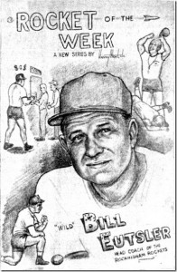 While stationed at Fort Bragg, Harry West compiled an Athlete of the Week for the Richmond County Daily Journal. Coach Bill Eutsler was the first person to be selected as Rocket of the Week.