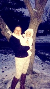 Paige Leviner shared this photo of young Emma, enjoying her first snow.