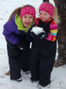 Cassie Swink emailed in this photo of Sadie Kay, 7, and Lexi Jaye, 3, playing in the snow in Rockingham.