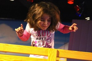 Kevin Spradlin | PeeDeePost.com Sophia Bobber, 8, of Pinebluff, helped ring in the new year on Dec. 31, 2014 at Discovery Place KIDS in Rockingham. It's time to party again this month as the children's science museum celebrates its second birthday.