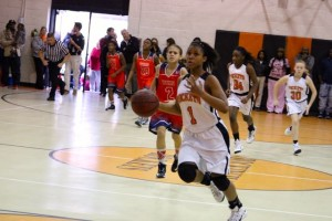 Kevin Spradlin | PeeDeePost.com Ralayah McCrae overcame a slow start Thursday to score a game-high 17 points in the Rockets' 46-15 victory over West  Hoke for the conference title.