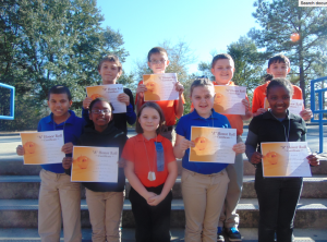 Submitted photo Students achieving Distinguished List for the first nine-week academic period at Monroe Avenue Elementary School include:  Front Row: Deon Little, Aryonna McQueen, Campbell Gross, Chloe Foster and Jada Howell. Back Row:  Dakota Chavis, Johnnie Jordan, Joshua Foster and Cody Webster.