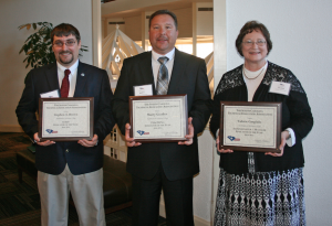 Submitted photo  Three members of Northeastern Technical College's faculty and staff, from left, Stephen Brown, Marty Gooden, and Valerie Gargiulo were presented with South Carolina Technical Education Association Educator of the Year awards.