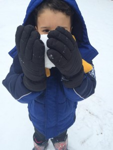 Teresa Knox snapped this picture of her grandson, 3-year-old Zaryk, at Jefferson Park in Rockingham.