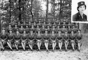 Female soldiers during World War II. Image from the N.C. Museum of History.