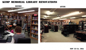 Richmond County Public Library System officials posted this before-and-after image of the recent renovations at Kemp Memorial Library.