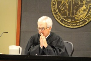 Kevin Spradlin | PeeDeePost.com Richmond County Superior Court Judge Richard T. Brown emphasized prospective jurors to keep a safe distance from those they don't know.