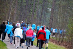 Kevin Spradlin | PeeDeePost.com The first official event on the new Mary Ellen Kindley Fitness Trail was, by any standard of measurement, a success.