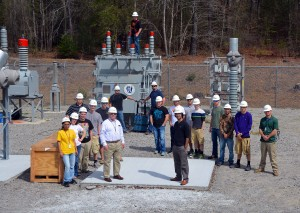 An RCC photo Richmond Community College students and instructors of the Electric Utility Substation and Relay Technology program stand in the substation on the main campus in Hamlet. The substation will be included in the campus tours conducted April 21 during the college's Open House.