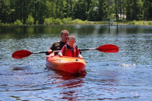 Stephanie Spradlin | PeeDeePost.com It was Parker Medlin's first time in a kayak, but he was nearly a pro with the paddle.