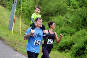 Kevin Spradlin | PeeDeePost.com Wesly and Sarah Minks, of Rockingham, are in it for a family fun run.