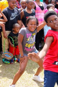 Stephanie Spradlin | PeeDeePost.com Jamia Williams, 9, of Hamlet, (left), was declared winner of the dance contest.