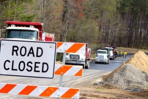 "Kevin Spradlin | PeeDeePost.com Local residents will be happy to see the ""Road closed"" signs taken down and the new bridge opened for traffic."