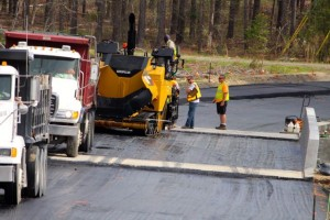 Kevin Spradlin | PeeDeePost.com Hudson Paving, of Rockingham, is a subcontractor on the McDonald Church Road bridge replacement project.
