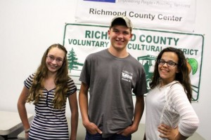 Kevin Spradlin | PeeDeePost.com Faith Thompson, Jordan Carroll and DeLani Reep are key members of the Richmond County 4-H Teen Council. They met Thursday night to discuss upcoming community service projects and summer programming options.