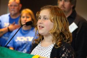 Kevin Spradlin | PeeDeePost.com Josie Anderson, 11, performed the national anthem.