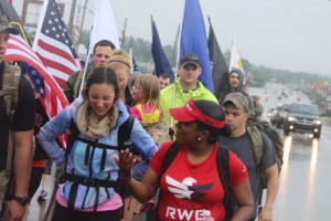Kevin Spradlin | PeeDeePost.com Camaraderie and esprit de corps were key elements of the 22 Until None march on Saturday through Richmond County.