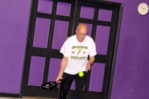 Kevin Spradlin | PeeDeePost.com Mike Deese has had some pickle ball practice, and it showed.